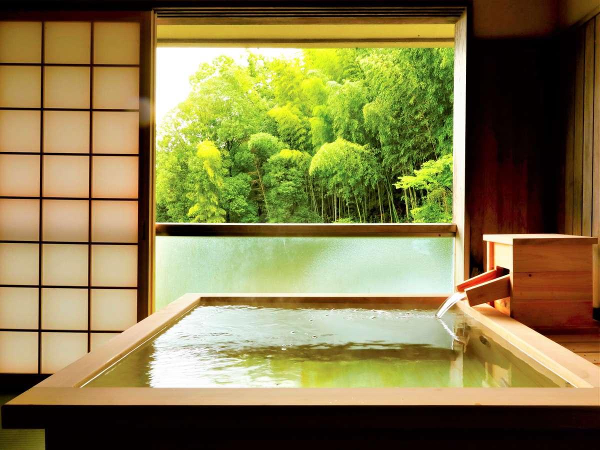 【展望檜風呂温泉付き】 ジュニアスイートルーム 40㎡/展望檜風呂 温泉