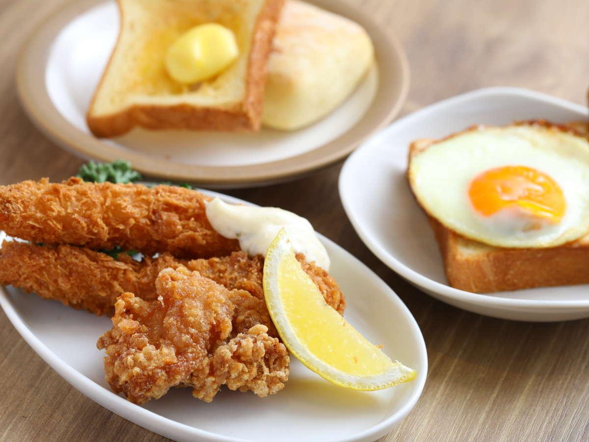 【朝食】◆鳥の唐揚げ・エビフライ◆