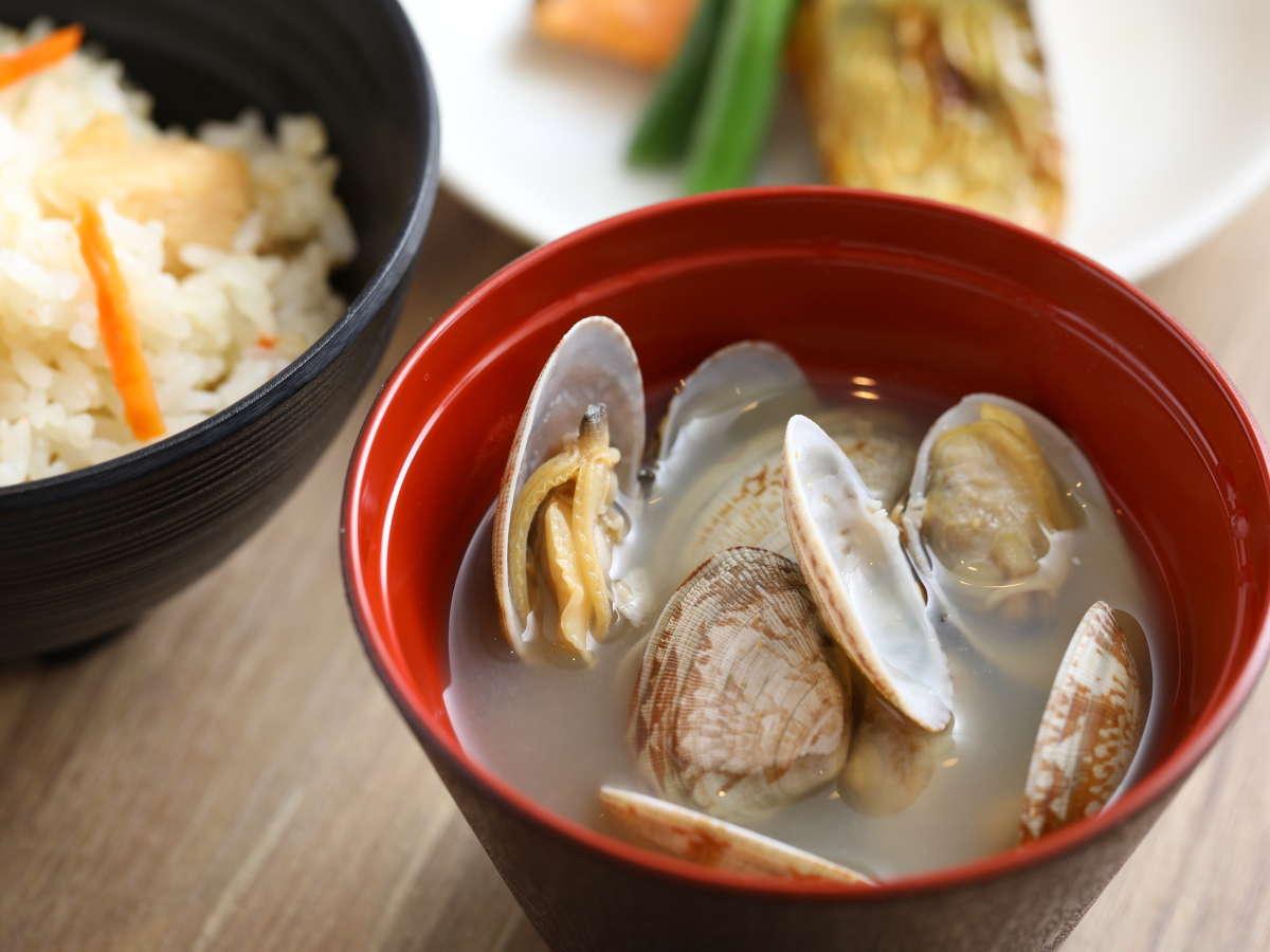 【朝食】◆味噌汁(あさり)◆
