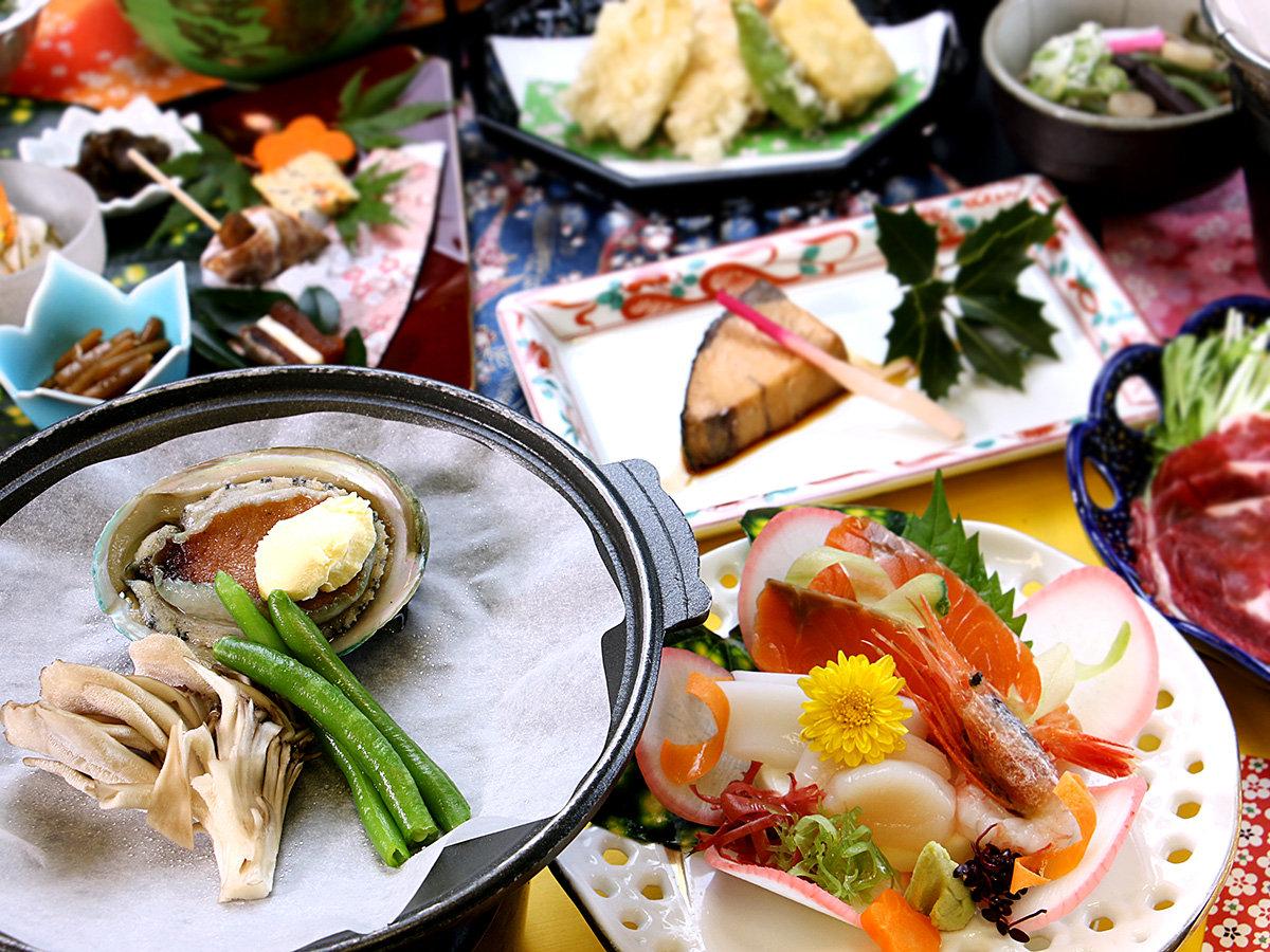 【グレードアップ】高級食材「あわび」の陶板焼き付*ぜひご賞味ください♪