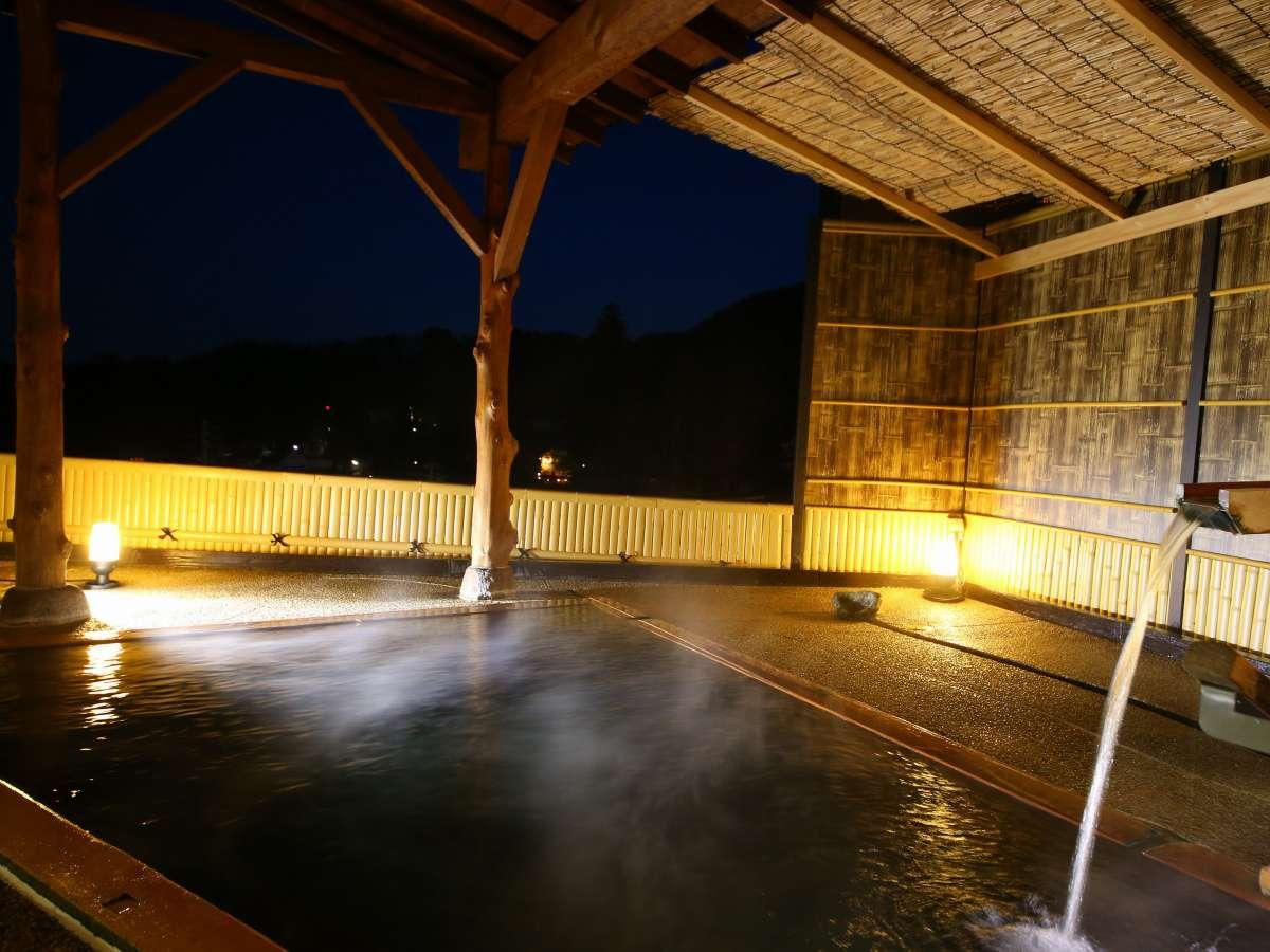 【大浴場ななくり/まつのゆ】夜は天気が良ければ星や上田市街の夜景が望めます
