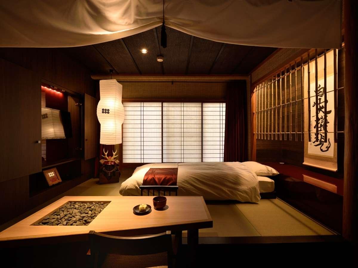 戦国の世の隠し部屋をイメージしたコンセプトルーム。