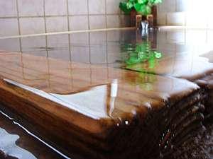 オーナー手作りのお風呂。温泉です!
