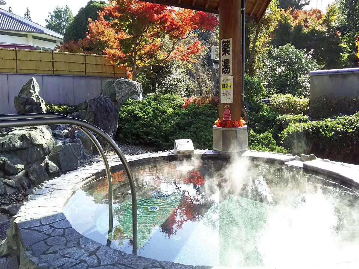 隣接している井頭温泉の露天風呂は宿泊者は無料で利用できます♪