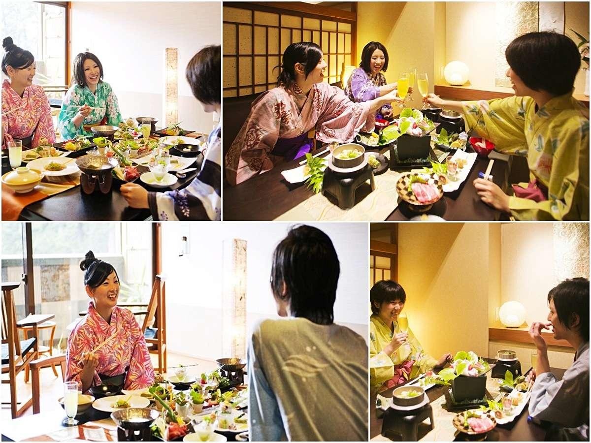 ■夕食部屋食又は個室食&朝食個室食プラン/ゆったり食を楽しむ♪