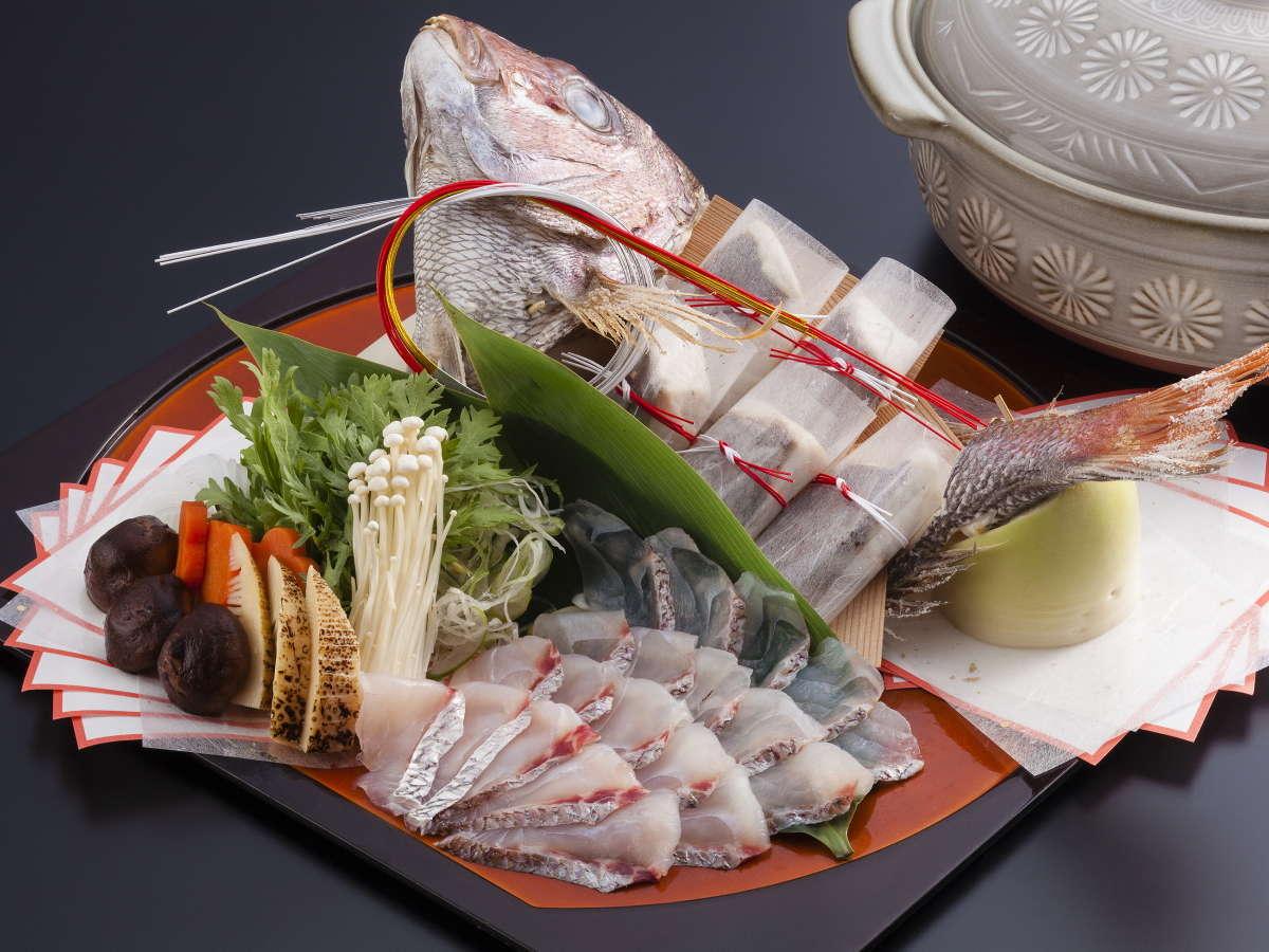【レストラン プールサイド】鯛のしゃぶしゃぶでお祝いを