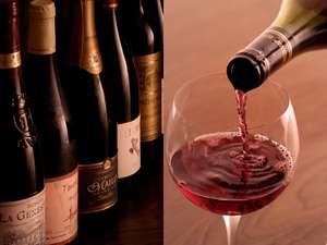 ワインはフランス農家自家詰ビオワインを中心に、30-40種後用意しております。