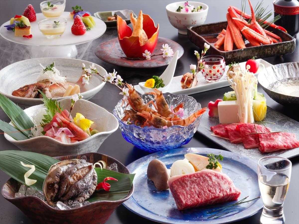 【春玉手箱コース】特大アワビに特上ステーキ、造り&地海老、のどぐろ!これぞ究極!5月末まで