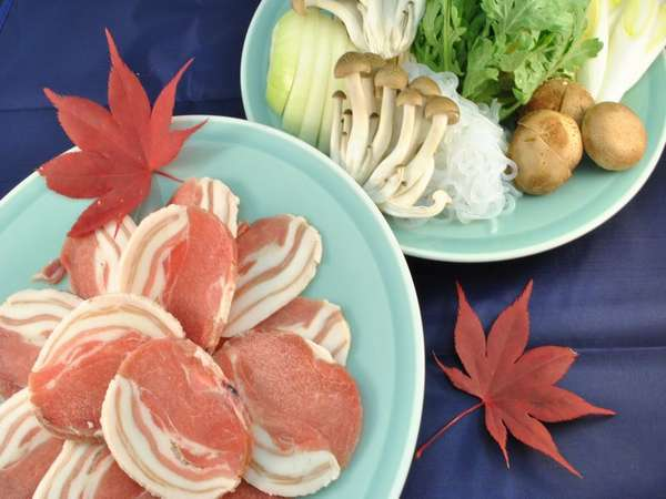 しし肉「ジビエ料理」あったかお鍋でお召し上がりください。特別プランとなります