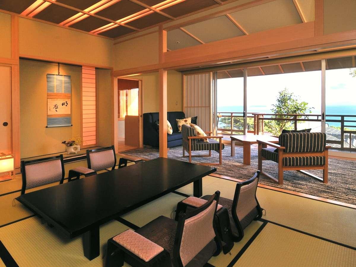 【DX和洋室一例】展望の良い落ち着いた雰囲気の佇まいのお部屋でございます