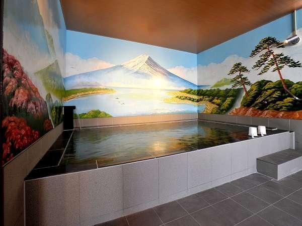 大浴場はやはり『富士山』ですよね♪