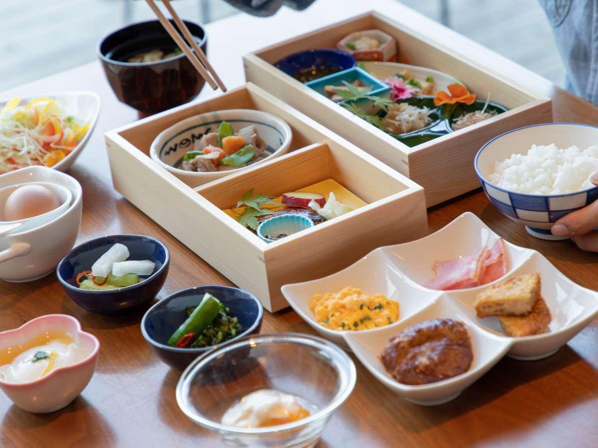 朝食イメージ:レストラン庭の食卓・四季7:00~10:00(L.O.9:30)九州の食材を使用した和膳をメインに。