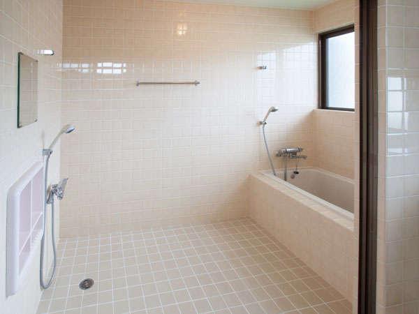 広いバスルーム。他にトイレは2か所。室内に洗濯機と乾燥機を備え洗濯も楽々です。