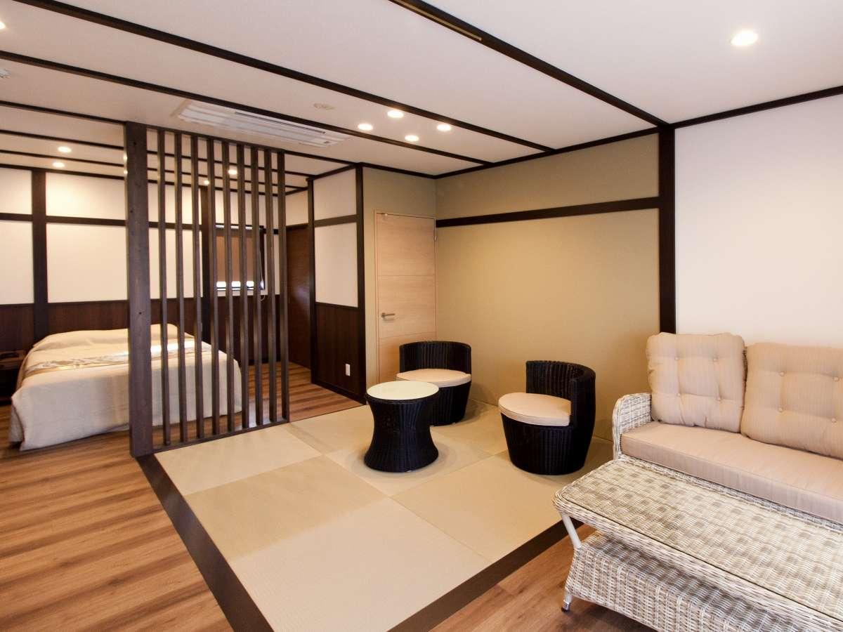 ダブルベッド和洋室48㎡