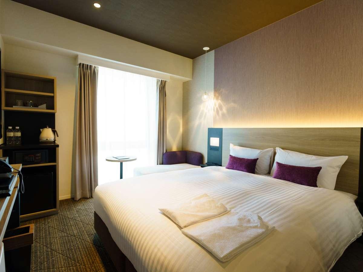 スーペリアダブル(21平米) 160cm幅のベッドが自慢です。