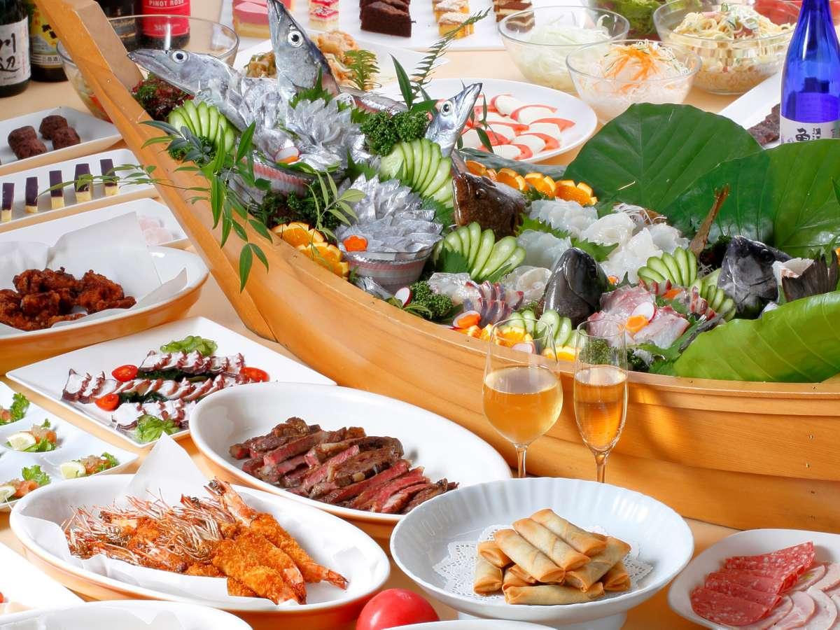 【夕食バイキング】新鮮な太刀魚のお刺身は絶品!