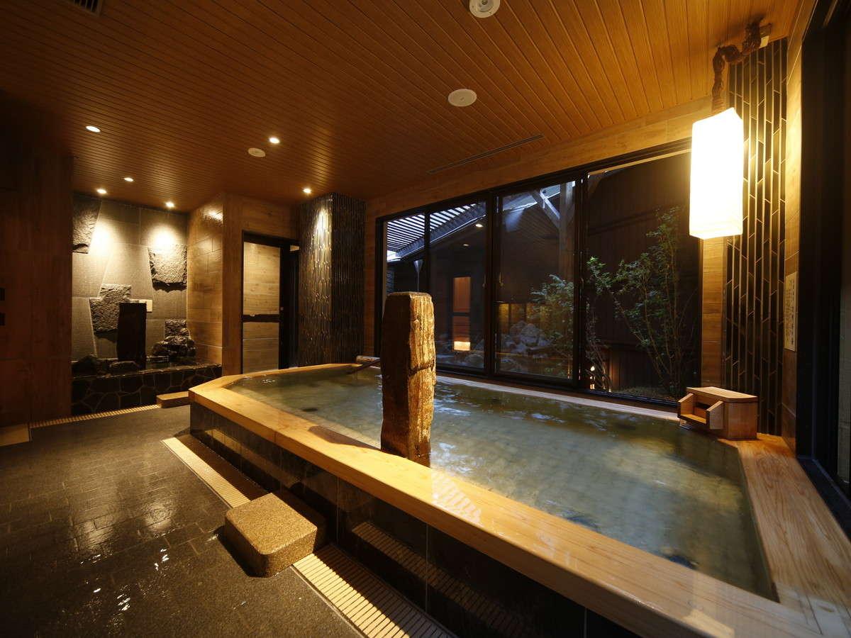 ■天然温泉大浴場『吉野桜の湯』は夜通しご利用頂けます■
