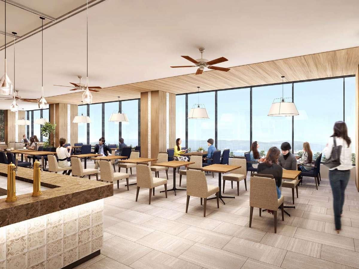 2階から宍道湖を見渡せる レイクビューレストラン