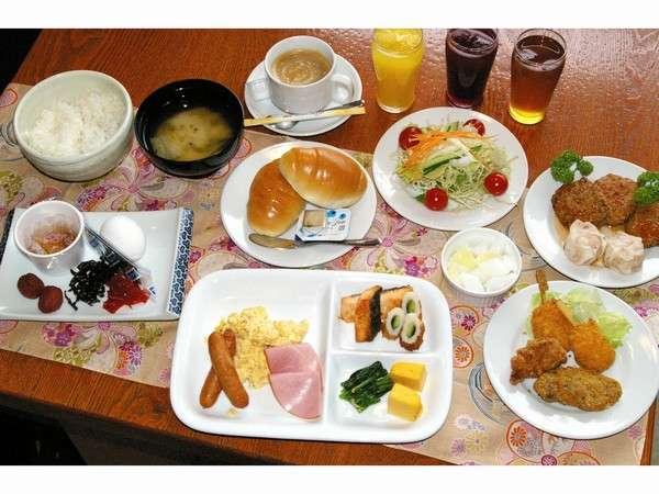 朝食バイキング  ☆個々EAT☆  現在料理を個別にラッピングしてご提供しております。