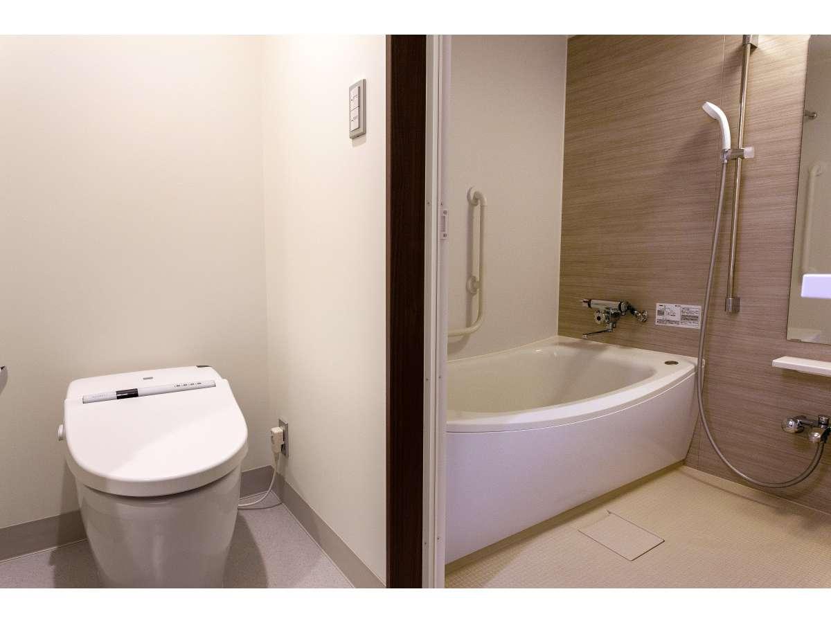 wide シングル トイレ・お風呂・洗面 三点独立スペース 「清潔さ」に、好評価頂いてます