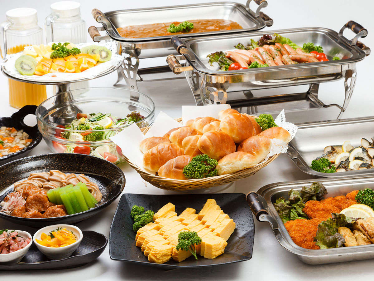 【朝食】和洋のメニューを取り揃えた軽朝食です