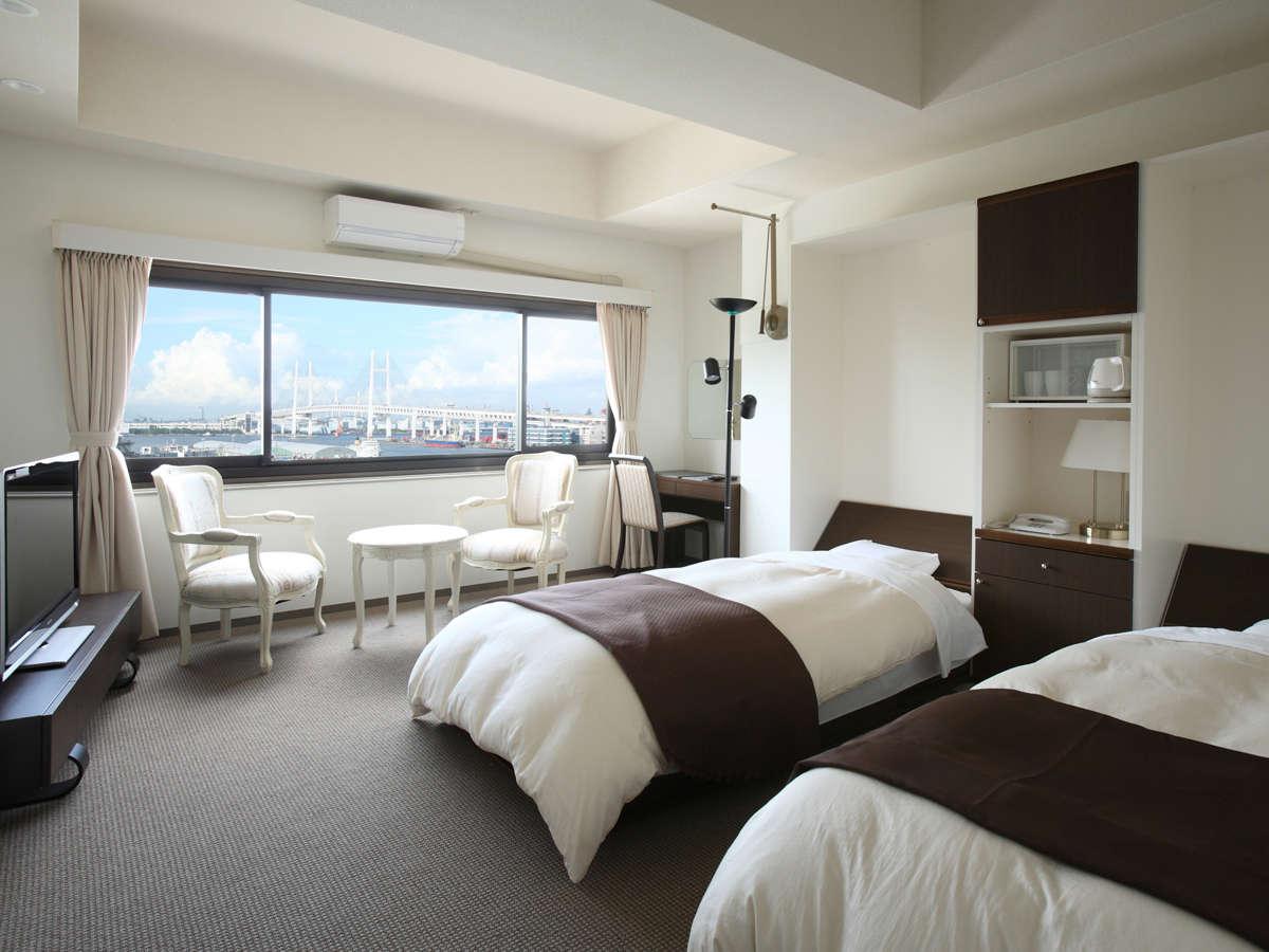 2部屋のみの洋室ツインルーム(禁煙)。人気なので、ご予約はお早めに♪