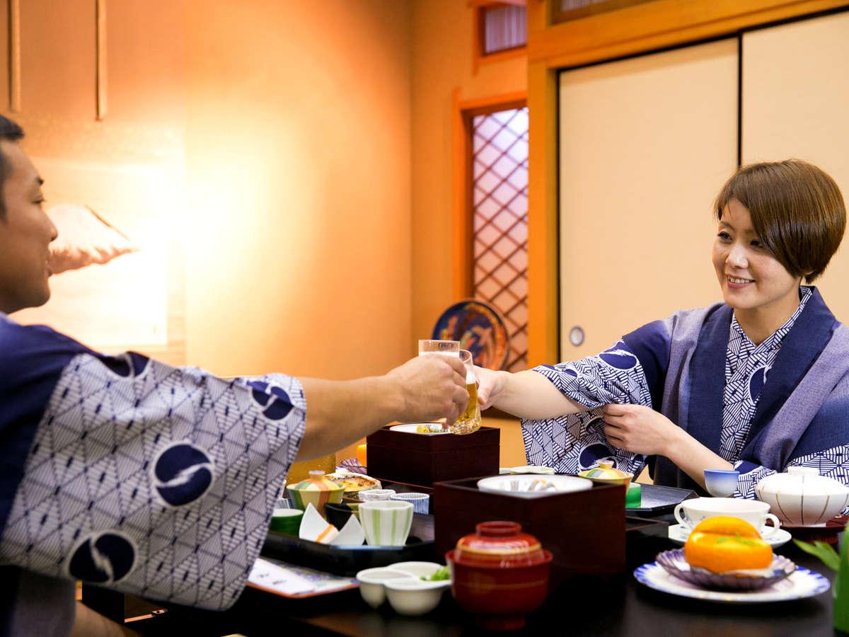 その日を締めくくる【ご夕食】は、大切な人と過ごす、旅に欠かせないとってきおきの時間