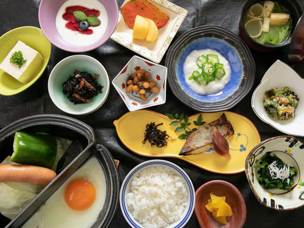 *【朝食】ヘルシーかつスタミナも付くボリューム満点の朝ご飯!