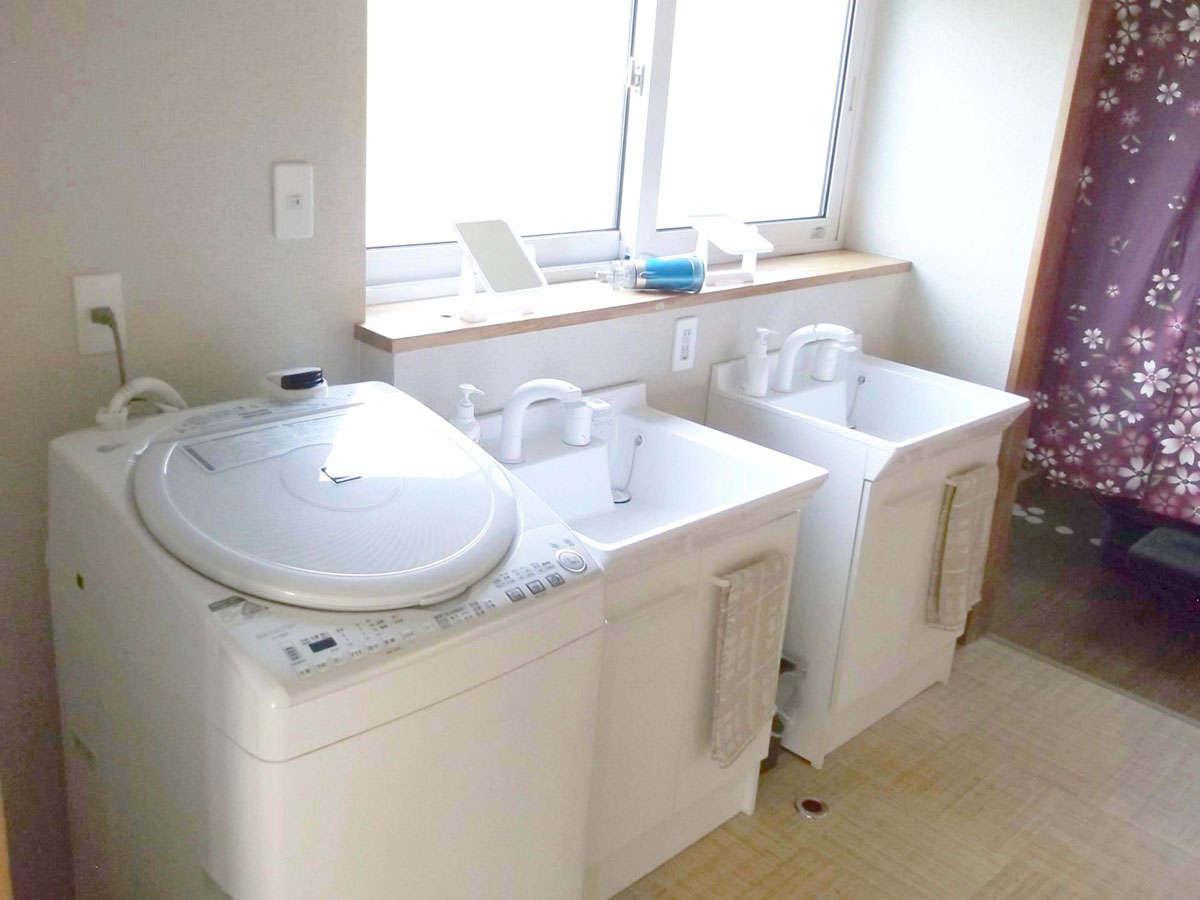 ・洗濯機と洗剤をご用意しております