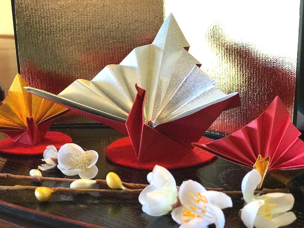 お正月【祝い鶴】