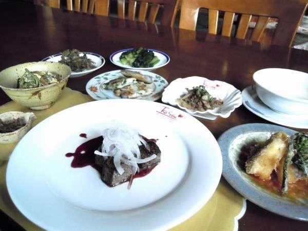 和食中心の夕食