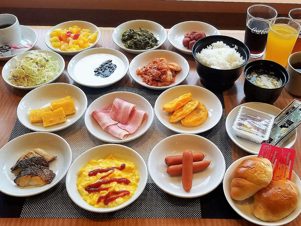 朝食バイキング一例 ※一部メニューは日替わりで提供いたします。