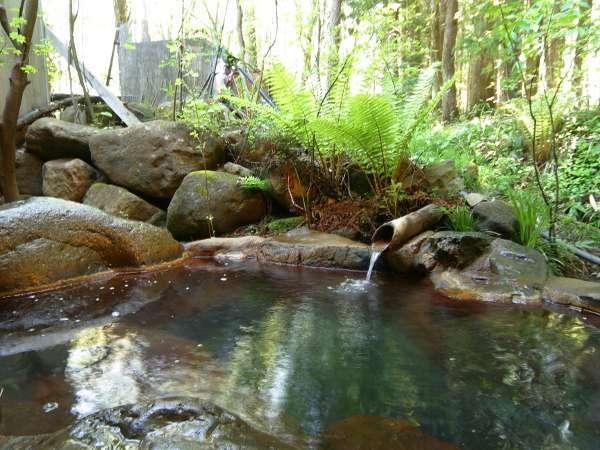露天風呂で四季折々の自然をお楽しみください。