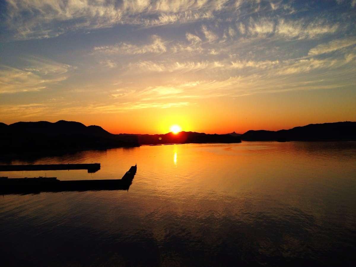◆【夕日】瀬戸内海に沈む夕日