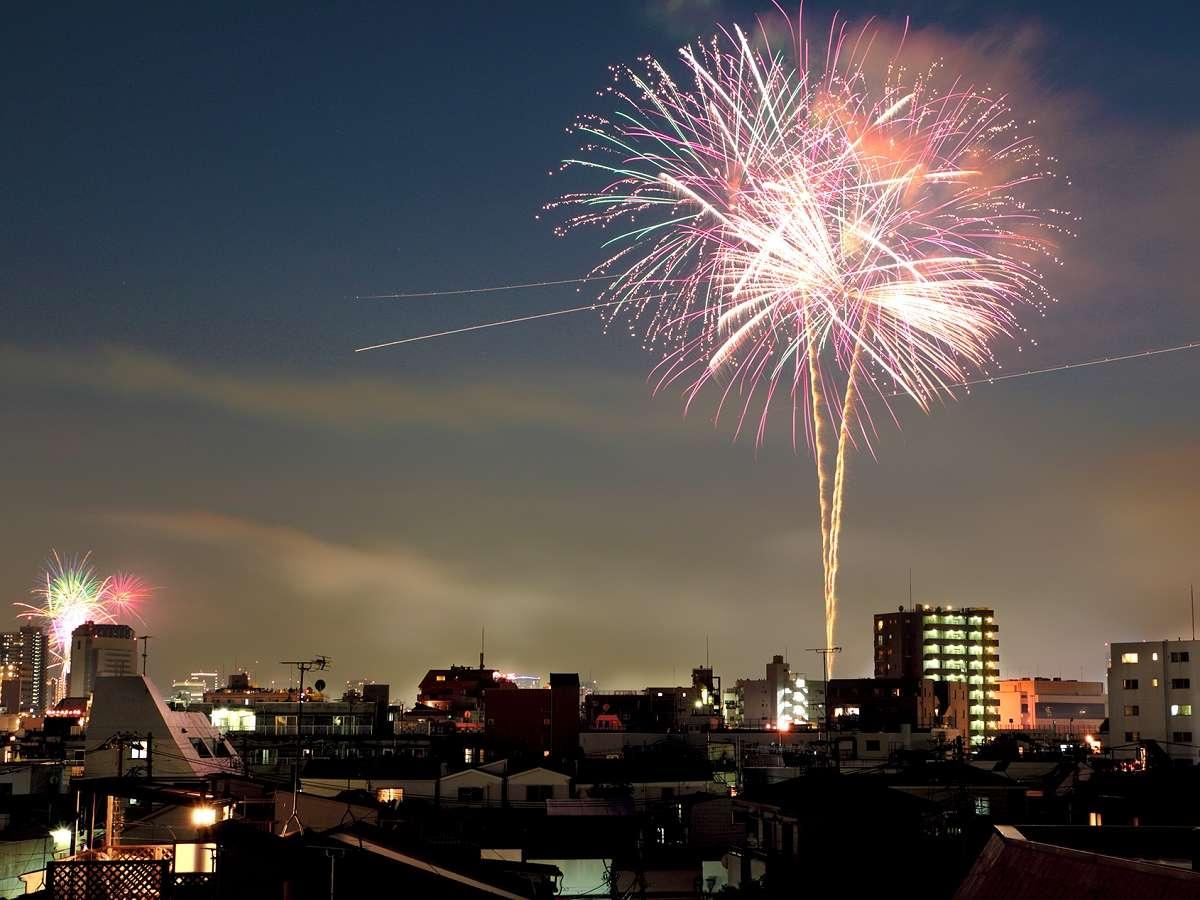【観光】隅田川の花火大会の日程はお早めにご予約下さい※ホテルからはご覧頂けません