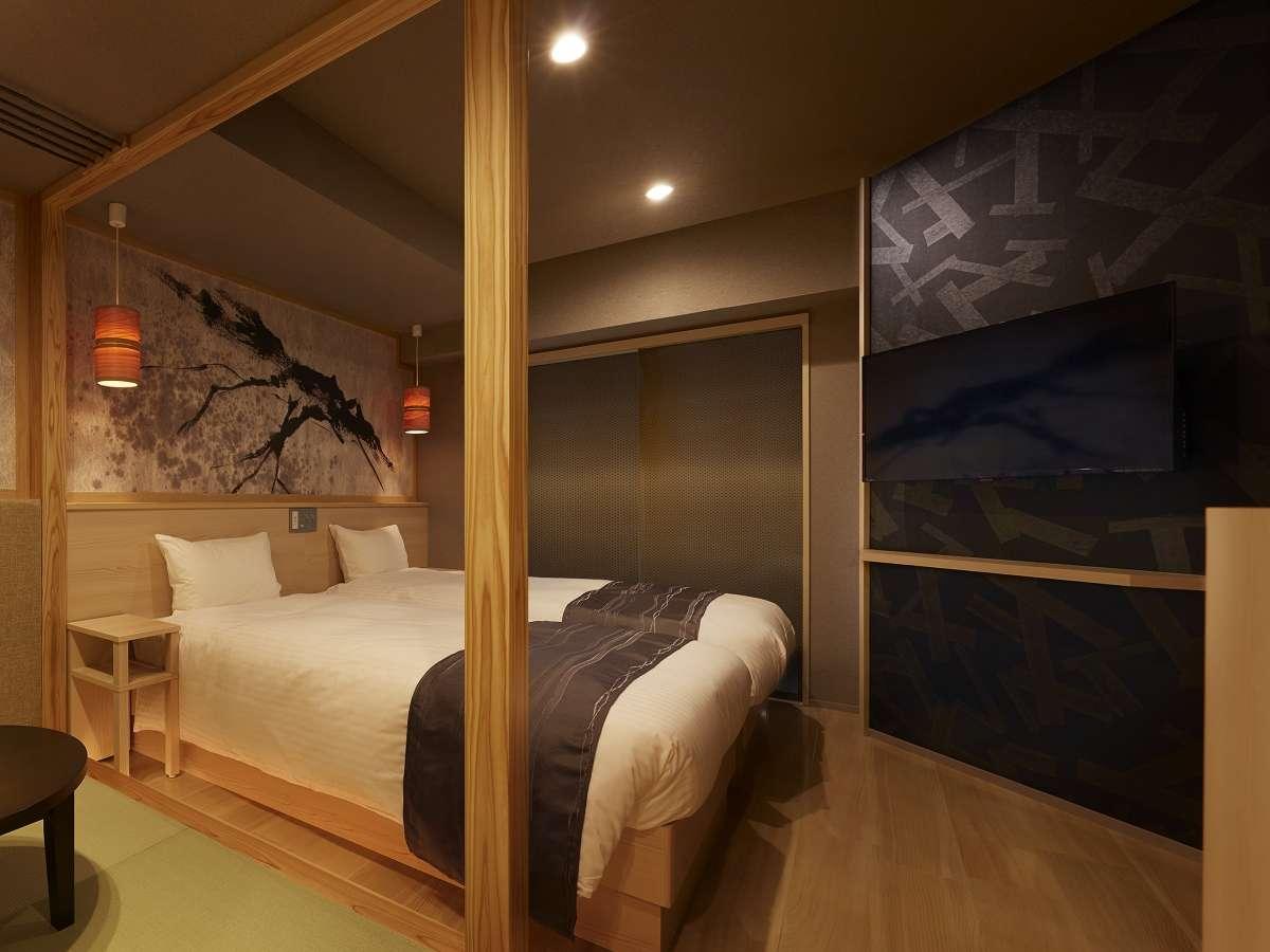 【和ツイン】畳の小上がりがついた和モダンな一室