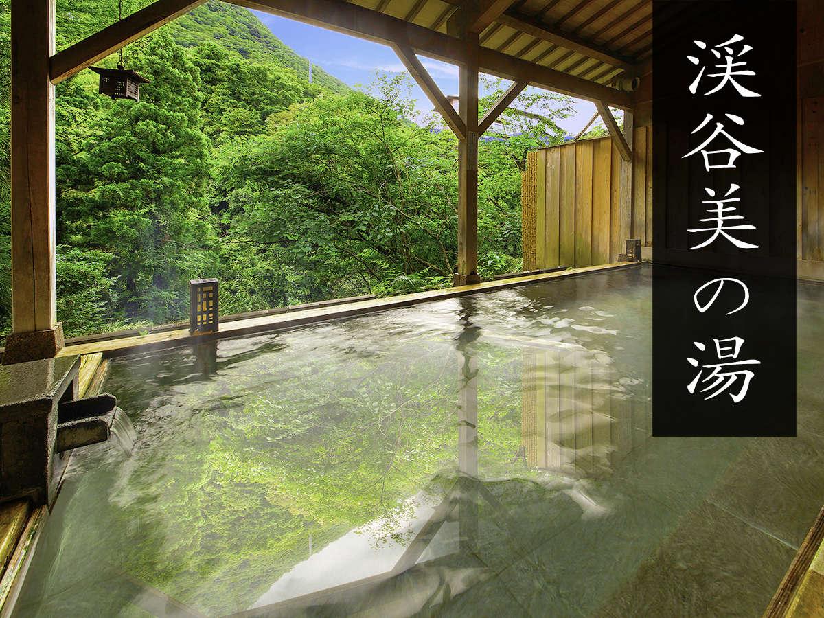 手つかずの自然を望める『3種の貸切露天風呂』は、なんと無料!名湯と森林浴を同時にお楽しみください。