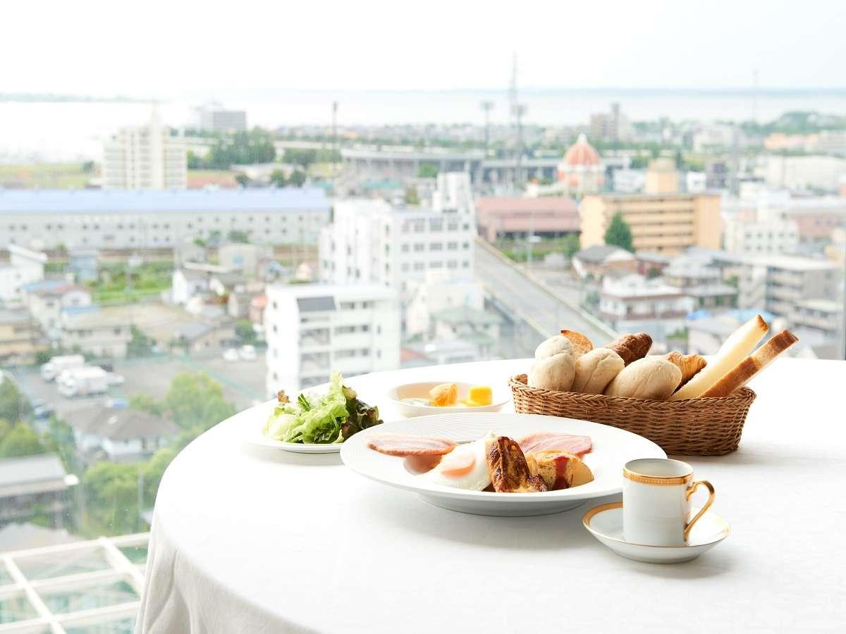 ■朝食■ 土浦の街並みを眺めながらゆっくりとお過ごしください