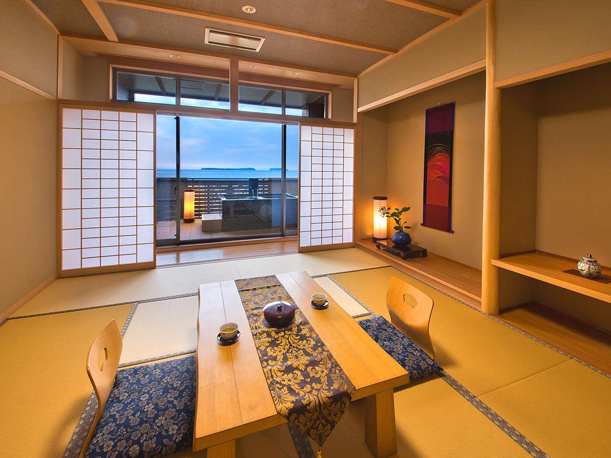 ◆露付和室◆★NEW OPEN★時間によって異なる表情を魅せる景色が楽しめる