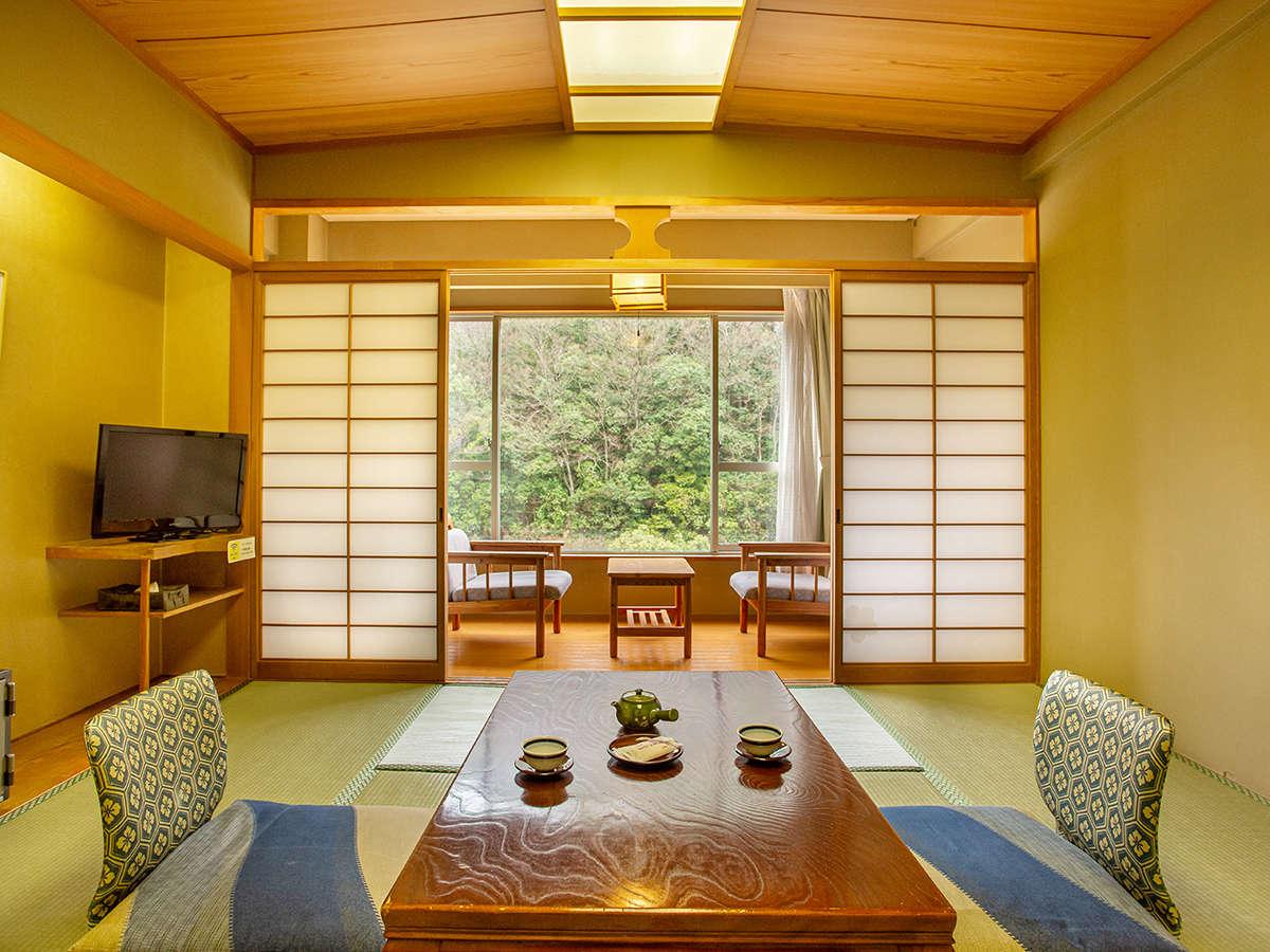 *【和室8畳・バス&トイレ付】お部屋のお風呂には温泉を引いているのでお好きな時間に温泉を楽しめます。