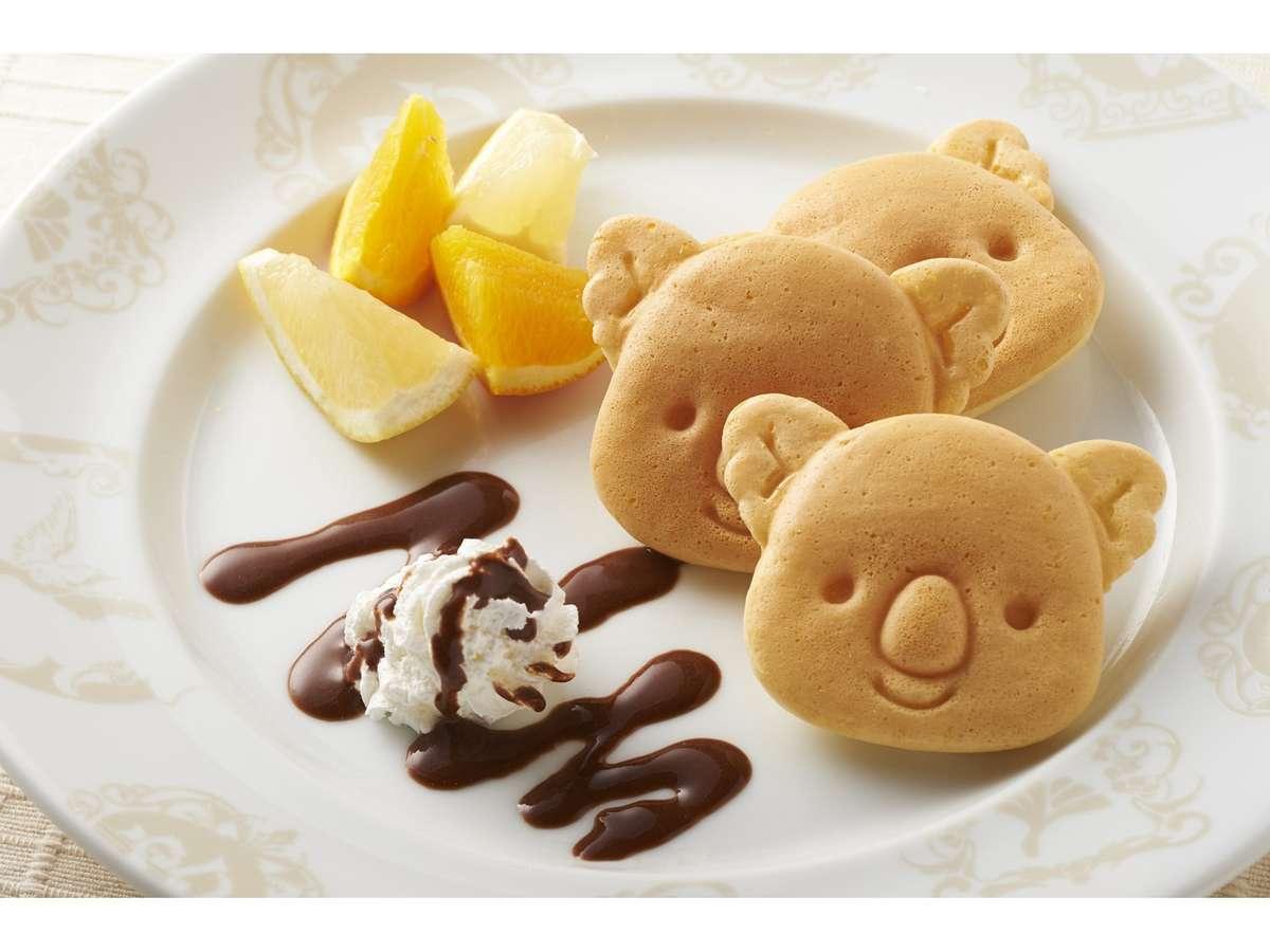 朝食ではコアラのマーチパンケーキもお楽しみいただけます。