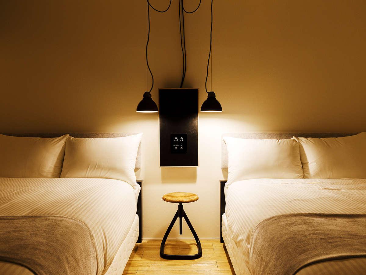デザイナーこだわりの寝具でお寛ぎながら、旅の疲れを癒し下さい。