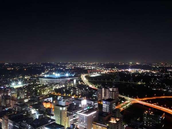 日産スタジアム方面を望む。高層階のお部屋からはさまざまな景色をお楽しみいただけます。