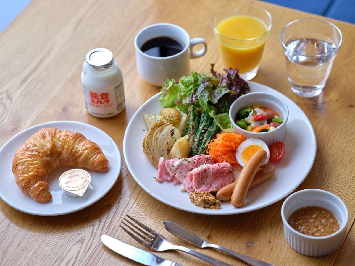 【朝食イメージ】いしかわの食材を使った洋食スタイルの朝食