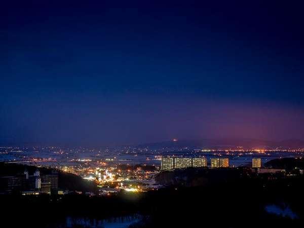 ホテルからの夜景(北広島市街)