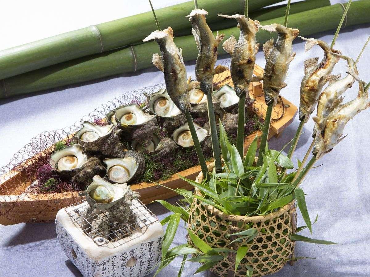 【サマービュッフェ】栄螺のつぼ焼き・鮎の塩焼き※イメージ