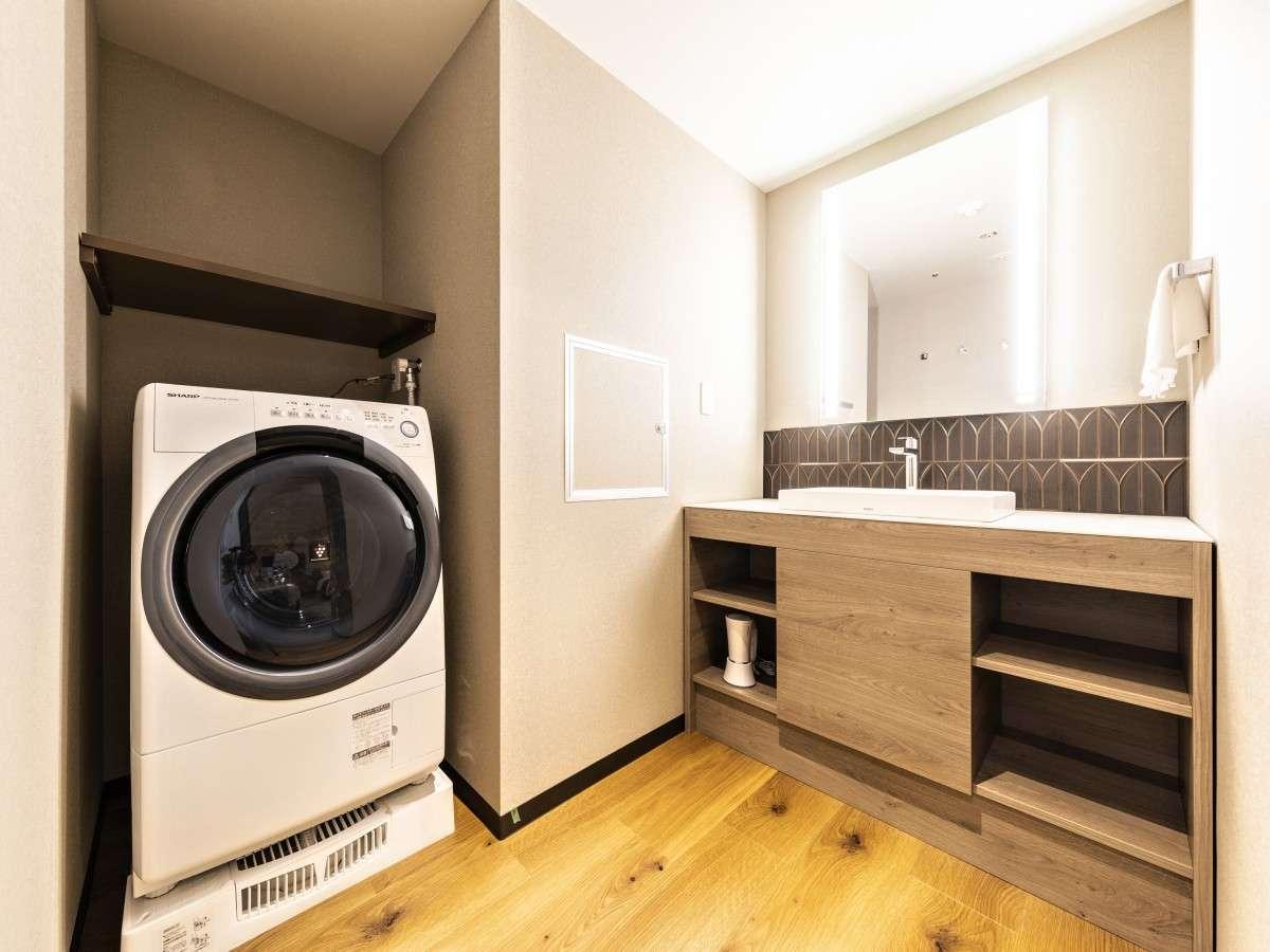 ■全自動洗濯乾燥機(コーナーツイン)/全室設置(設置イメージはお部屋により異なります)