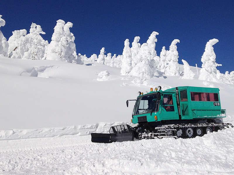 厳寒の自然が織り成す神秘「樹氷」をワイルドモンスター号(雪上車)に乗って観覧ツアー♪