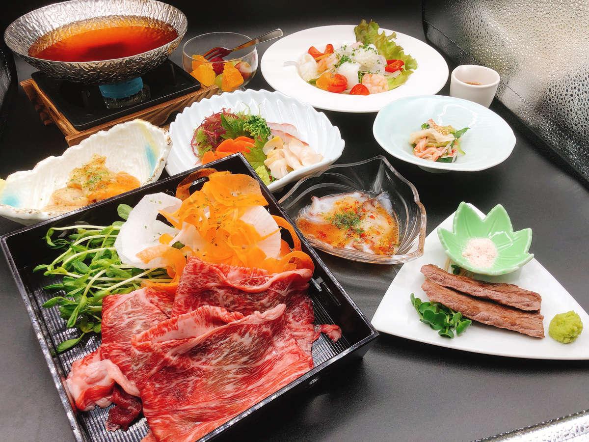 *【夕食】今金黒毛和牛コース/ここでしか食べられない幻のお肉!※写真は一例です