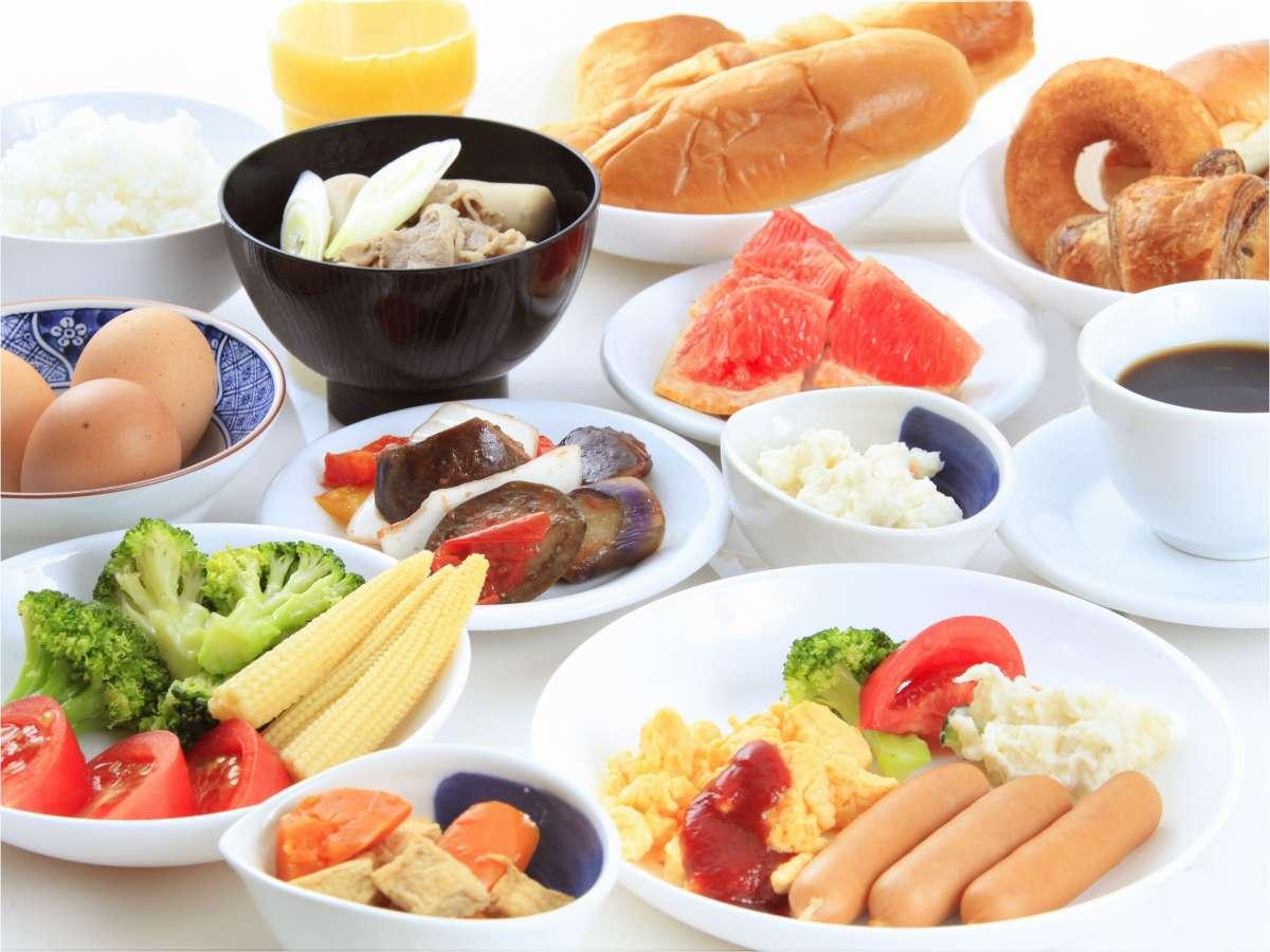 6:30~9:00まで2Fラウンジにて朝食をご用意しております。